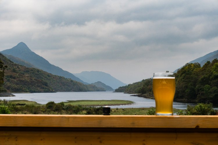 the view from The Macdonald Hotel Kinlochleven