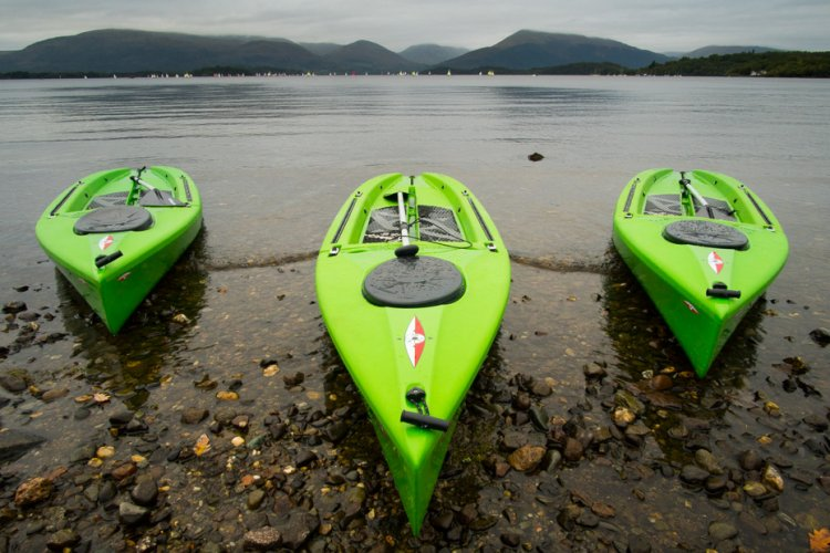 Green canoes