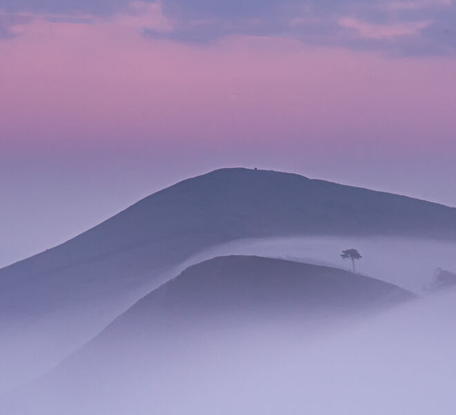 Hollins cross in the mist