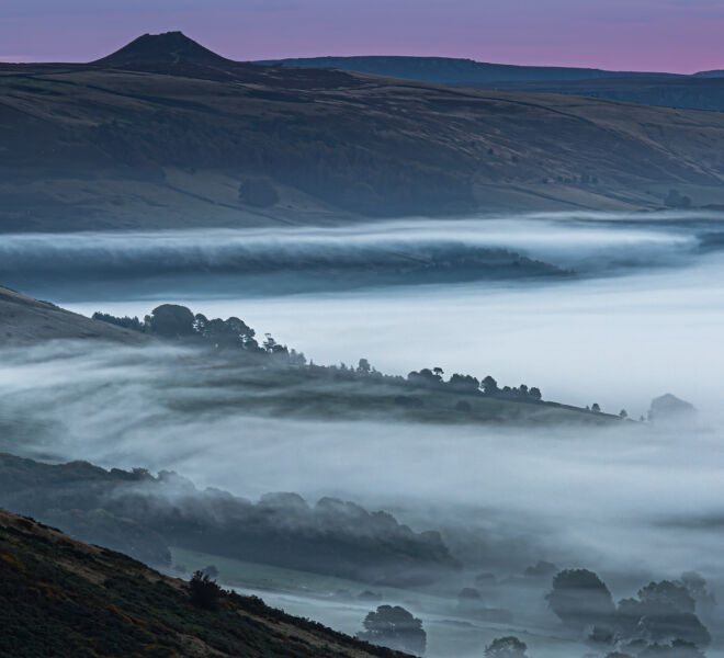 Rolling mist over the hope valley