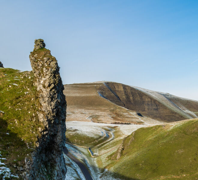 Mam Tor viewed from Winnats Pass